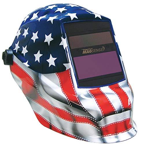 Sellstrom Auto Darkening Welding Helmet, Blue/Red/White, Tri