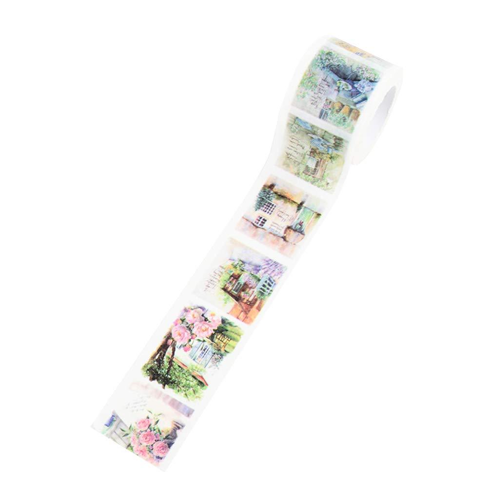 Style1 3cm*700cm Motivo Floreale Nastro Adesivo Decorativo per Fai da Te Artigianato MoGist Washi Tape Creativo architettura Decorazione Regalo Scrapbook