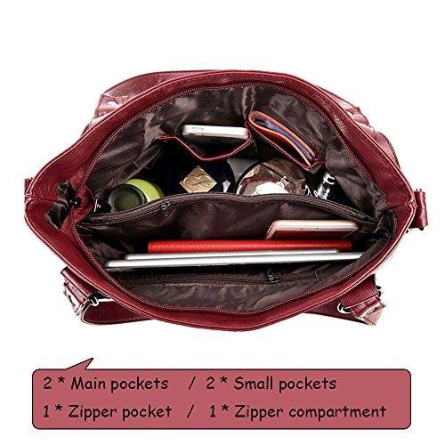 Women Bag party Classical PU Shoulder work shopping for Satchel Handbag Leather Purple Ladies rwHrAP0q