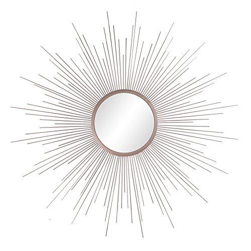 Patton Wall Decor Champagne Rays Metal Framed Sunburst Mirror, Gold (Gold Wall Mirror Sunburst)