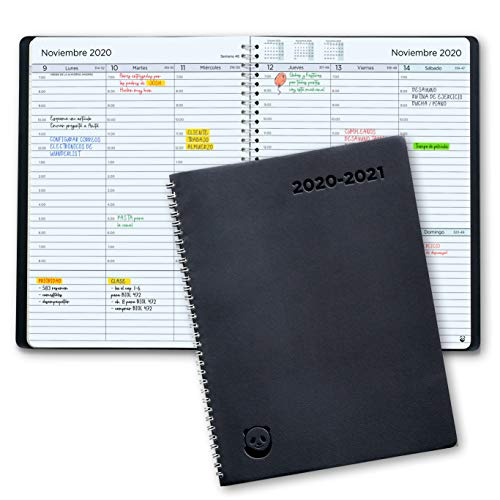 Comprar Agenda 2020 2021 con Vista Semanal – Planificador 2020 2021 Semana Vista – Diario Espiral que Inspira Productividad- Ver Ofertas