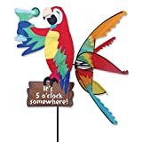 GOOD MEDIA Parrot Spinner Ground Stake Bird Animal Fabric Wind Sculpture Garden Yard Decor