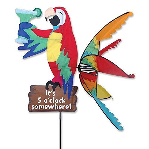 GOOD MEDIA Parrot Spinner Ground Stake Bird Animal Fabric Wind Sculpture Garden Yard Decor