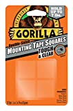 Gorilla 6067201 Mounting Tape Squares, Tough & Clear (3 Pack)