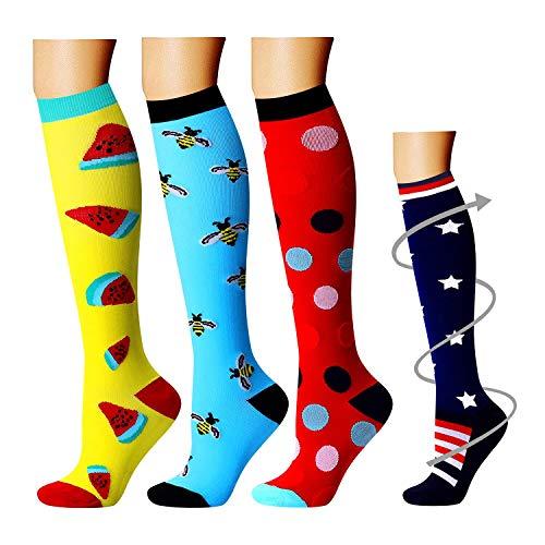 BLUEENJOY Compression Socks Women & Men - Best for Running,Medical,Athletic Sports,Flight Travel, Pregnancy