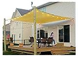 10' x 13' Rectangle Sand Sun Shade Sail, Durable UV Block Shelter Canopy Cover for Outdoor Patio Deck Garden LawnYard
