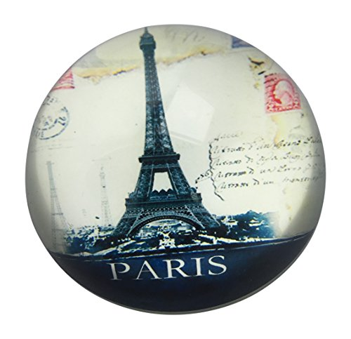 Value Arts Eiffel Tower Paris Glass Dome Paperweight, 3 Inch Diameter
