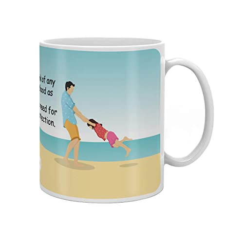 Indigifts Dad Birthday Gifts From Daughter Fathers Protection Quote Father Playing Multi Coffee Mug