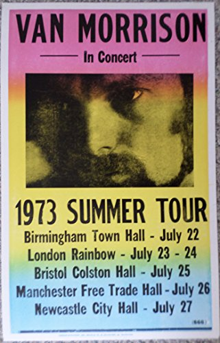 Van Morrison 1973 Summer Tour Poster