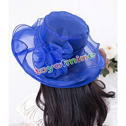 MAZIMARK--Style Women Church Derby Hat Wide Brim Cap Wedding Dress Tea Party Floral - Derby Designer Outlet
