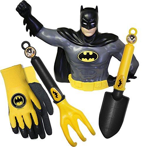 MidWest Gloves & Gear SFBP18P08-EA-AZ-6 DC Comics Batman Kid Garden Tool Combo Pack, Toddler, -