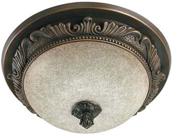 Hunter 83003 aventine bathroom fan with light and nightlight aged bronze night lights for Hunter bathroom light fixtures