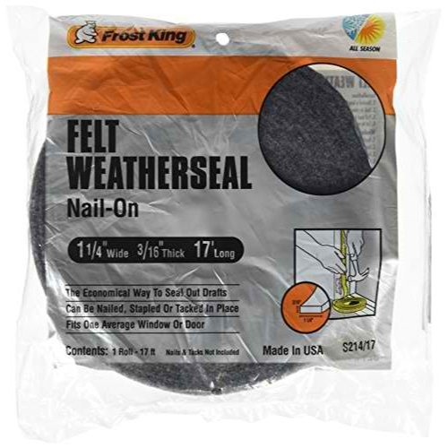 Frost King S214/17H Felt Weather-Strip 1-1/4-Inch by 3/16-In