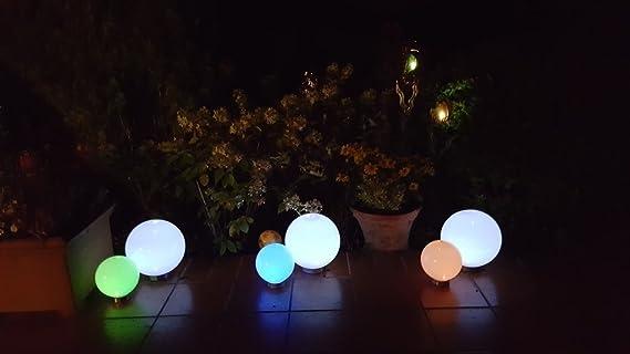 2 lampade a led solari 15 15 cm a sfera da giardino con