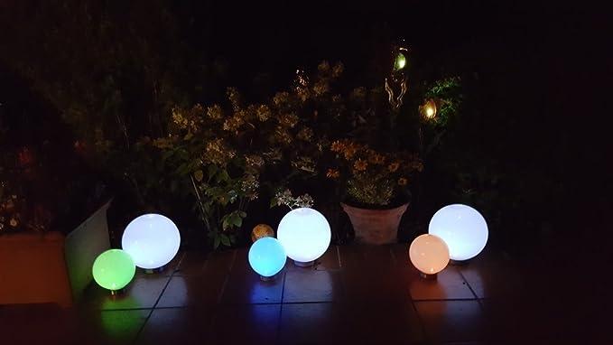 Lampade a led solari cm a sfera da giardino con