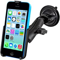 Heavy Duty Suction Cup Windshield Car Suv Mount Holder for Apple iPhone 5C
