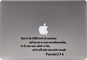 Bible Proverbs 3.5 6 Vinyl Decal Sticker for Computer MacBook Laptop Ipad Electronics Home Window Custom Walls Cars Trucks Motorcycle Automobile and More (Black)