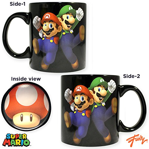 Monopoly Mug - JUST FUNKY Super Mario Bros. Card Game Ceramic PREMIUM Coffee &Tea Mug/Cup (Inner & Outer Printed) - Novelty Funny Fann Party Gift Monopoly