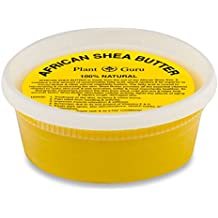 """Plant Guru African Shea Butter 8 oz. Yellow 100% Pure Raw Unrefined from Ghana """"8 oz. container"""""""