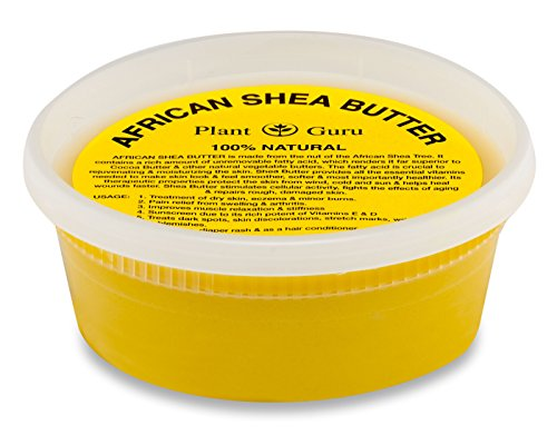 (Plant Guru African Shea Butter 8 oz. Raw Unrefined 100% Pure Natural Yellow Grade A - DIY Body Butters, Lotion, Cream, lip Balm & Soap Making Supplies)