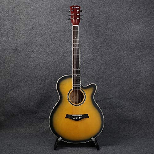 ACDOS 40-inch Basswood Beginner Acoustic Guitar Guitar Missing Angle Matte Practice Piano for Beginners (Color : Dumb Sunset Size : 40 inches) / ACDOS 40-inch Basswood Beginner Acoustic Guitar Guitar Missing Angle Matte Practice Pi...