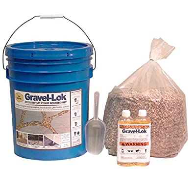 Gravel-Lok DIY Decorative Stone Bonding Kit - Pea Gravel