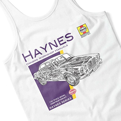 Haynes Owners Workshop Manual 0242 Jaguar XJ6 Women's Vest White