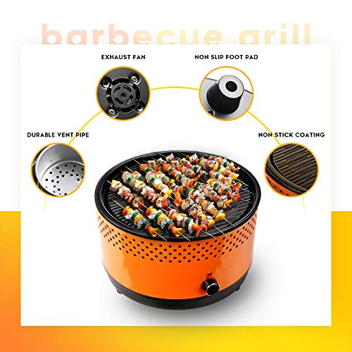 BUERK Portable Charcoal BBQ Grill Hibachi Grill Korean BBQ Grill Small&Mini Grill Suitable for Camping Indoor Outdoor…