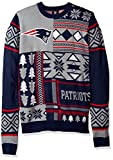 FOCO New England Patriots Patches Ugly Crew Neck Sweater Large