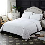 Mommesilk Mulberry Silk Comforter with Cotton Covered Filled by 100% Pure Mulberry Silk,Silk Duvet for All Season Washable, King