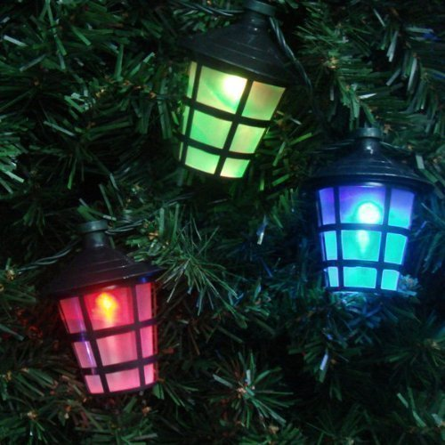 40 multi coloured christmas party barbecue lights with lantern style shade suitable for