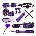 10ピースSMのおもちゃのSMキットカップルの女性のためのラブリーなデザインのSMおもちゃとSMアクセサリー ( Color : Purple )