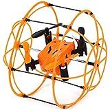 Mini Sky Walker hm-1336 2.4GHz 4CH RC Quadcopter 3D Flip Climbing Wall Roller Copter Aircraft