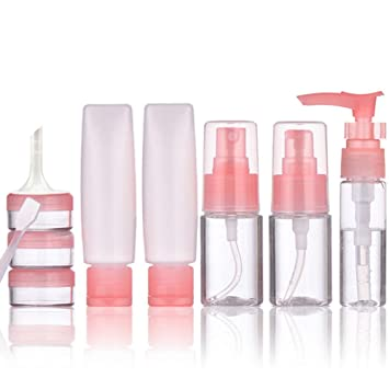 ee37fe5af8 Amazon.com   Travel Size Toiletries Containers 10 Pack Travel Bottles Set  Cosmetic Makeup Liquids Travel Container TSA Approved Leak Proof BPA Free  ...