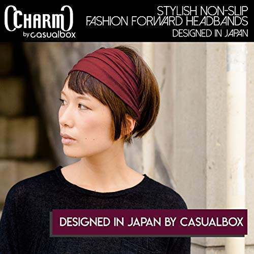 CHARM Headband Bandana Japanese Style - Mens Head Wrap Womens Hair Band Black 2 Pack by CCHARM (Image #5)