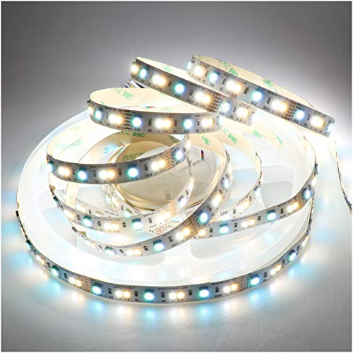 LEDENET LED Strip Light RGB+W+WW Flexible Full Color Changing Color Temperature Adjustable Cold White Warm White CCT RGB LED Tape Ribbon Lamp 12V 5m 16.4ft Long Non-Waterproof
