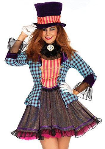 Leg Avenue 2PC. Ravishing Mad Hatter Women's Costume -