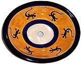 Lizard Ceramic Talavera Sink