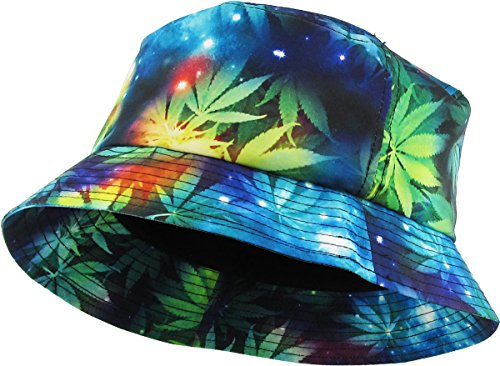KBETHOS Galaxy Bucket Hat, One Size (Medium to Large), (Leaf Galaxy) Black - Mens Bucket Hats