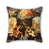 Slimmingpiggy 18 X 18 Inches / 45 By 45 Cm Oil Painting José Juárez - Saint Justus And Saint Pastor Pillowcover ,2 Sides Ornament And Gift To Home Theater,office,divan,pub,lounge,car Seat