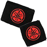 Yamaha Black/Red Brake/Clutch Reservoir Cover by MotoSocks Set Fits R1, R6, R6S, YZF-600, YZF-1000, YZF, 600, 1000, Thundercat