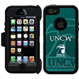 Coveroo Defender Series Cell Phone Case for iPhone 5s - Retail Packaging - UNCW Watermark Green