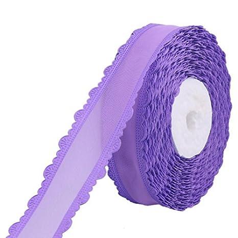 Amazon.com: Cinta del arte Vestido de boda del Pelo del Partido de poliéster eDealMax Regalo de la decoración DIY del rodillo 20 yardas púrpura: Health ...