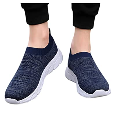 YiYLunneo Women Tennis Shoe Slip on Sneakers Breathable Non-Slip Wear-Resistant Cushion Sneakers Soft Sock Walking Shoe: Clothing
