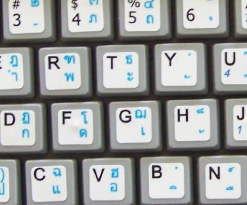 NETBOOK THAI ENGLISH KEYBOARD STICKERS WHITE BACKGROUND