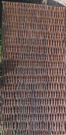 Willow Woven Hurdle Panel, 4'W x 6'H/pcs, Set of 2 Pieces (Six Willow Curves)