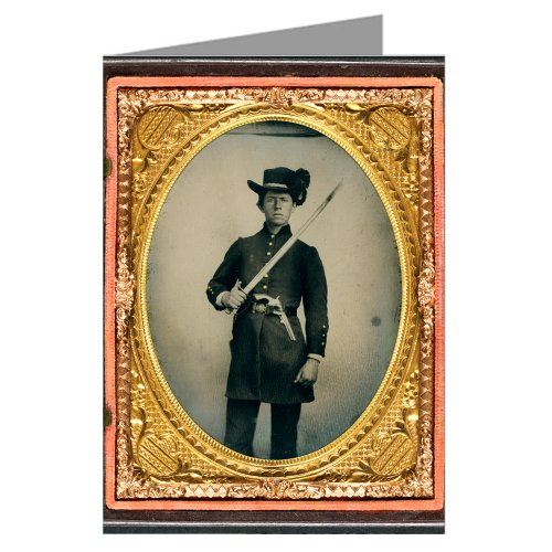single-vintage-greeting-cards-of-southern-civil-war-young-soldier-in-uniform-and-hardee-hat-with-hol