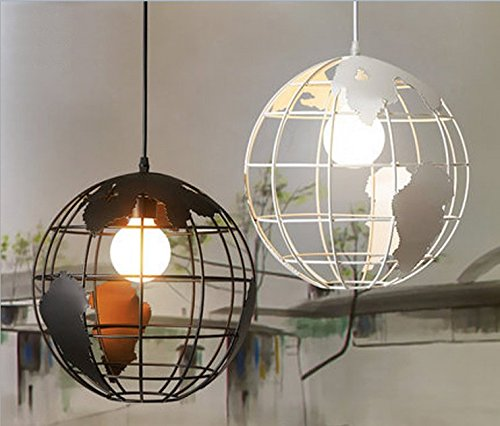 New Decor Nova Personalized retro style simple wrought iron creative modern black globe chandelier ceiling lamp for indoor(Bulb no included)