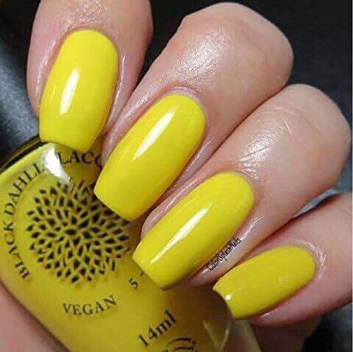 Bright Sunny Yellow Creme Nail