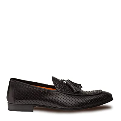 Mezlan Rubini Mens Luxury Formal Loafers - Spanish Calfskin Tassled Slip-On with Leather Sole - Handcrafted in Spain - Medium Width | Loafers & Slip-Ons